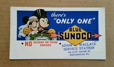 Blue Sunoco,Mickey & Minnie Ink Blotter,1939