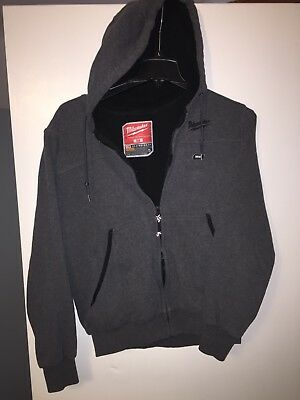 Milwaukee M12 12V MEDIUM Gray Heated Hoodie Only! Jacket No Charger Or Battery