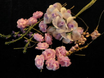 "Vintage Millinery Flower Collection 1/4-1"" Purple Lilac Rosebud Doll Size H2163"