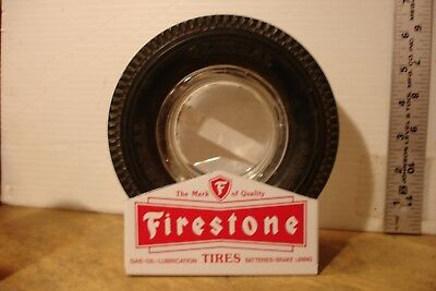 "Stand Rack for vintage 6"" FIRESTONE Tire Ashtray Man Cave Gift"