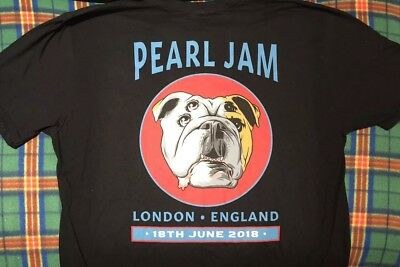 "Pearl Jam ""Bulldog"" London O2 1st Night Event T-Shirt Sold Out 18 June 2018"