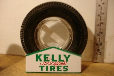 "Stand Rack for vintage 6"" Kelly Springfield Tire Ashtray Man Cave Gift"