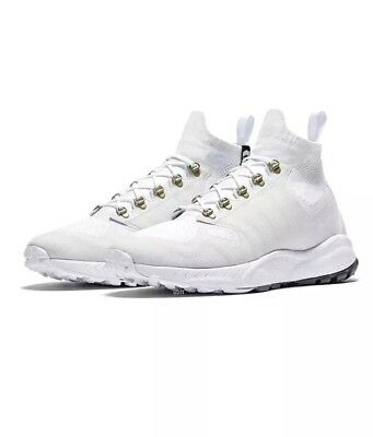 size 40 c18b9 51235 Nike Zoom Talaria Mid FK Flyknit White Mens Sneaker Boots Size 10.5 New