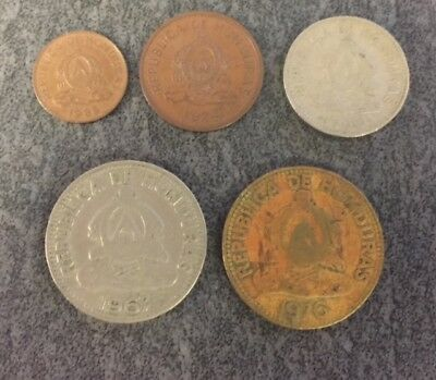 Lot of WORLD COINS - HONDURAS; Beginning Collector Set