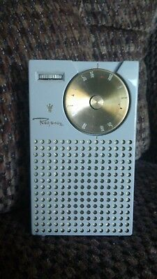 First Gen. Regency TR-1 Transistor Radio - Gray. Nice Condition