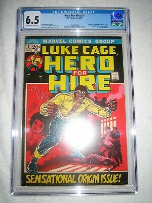LUKE CAGE, HERO FOR HIRE # 1 CGC 6.5 OW/WH - ORIGIN AND 1st APPEAR OF LUKE CAGE!