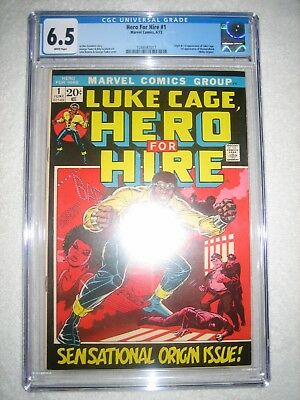 LUKE CAGE, HERO FOR HIRE # 1 CGC 6.5 WH - ORIGIN AND 1st APPEAR OF LUKE CAGE!!!!