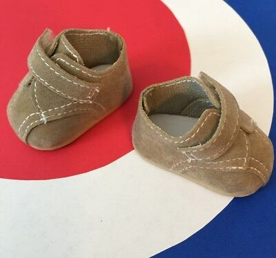 SASHA GOTZ TODDLER TAN SHOES * Soft Synthetic Suede BOOTS *2nd GERMAN Production