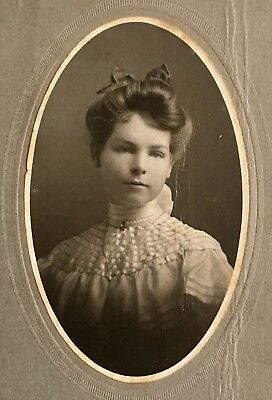 Antique Pretty Sweet YOUNG GIRL Teen CABINET CARD PHOTO Wooster OH Stella Starr