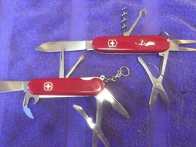 Vintage Wenger Delemont & Victorinox Golf Swiss Army Knives. NR. Free Shipping!