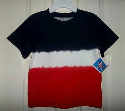 nwt-Boy/Girl-T-shirt-Top-2T-red-white-blue-patriotic-summer-tie-dye-July 4th