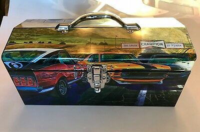 New Rare Ford Mustang Boss 302 Trans Am Metal Tool Box Shelby Mach Gt 5.0 Coyote