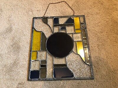 "Vintage Stained Glass Window 15""X12.5"""