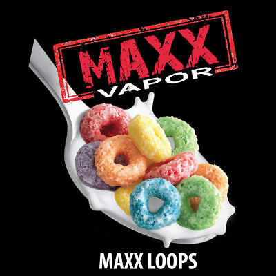 Maxx loops fruit loops cereal Vape juice vapor 18+ candy.  King