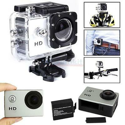HD 1080P 140 Wide-angle Lens Waterproof Sport Camera Action DV for SJ4000 Silver
