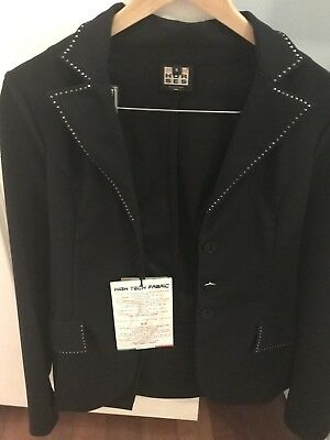 Horse Riding Jacket, Black Size Small With Bling Brand New With Tags