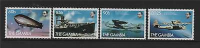 Gambia 1984 Transatlantic Flights SG 559/62 MNH
