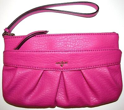 Juicy Couture Hot Pink Wristlet With Gold Accents!!!!!!!!!!!!!!!!!!!!!!!!!!!!