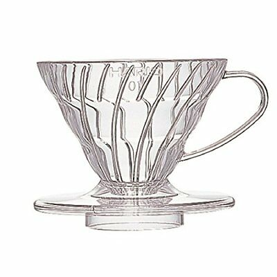 HARIO V60 01 Transparent coffee dripper Clear coffee drip  VD-01T