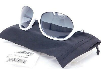 05bcc0d8c37 Oakley WARM UP Sunglasses OO9176-05 White  Black to Grey Gradient lenses   SAMPLE