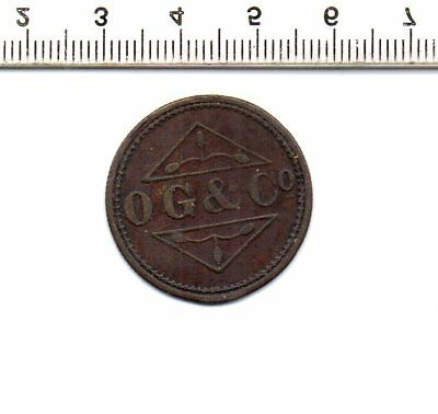 O G & Co FOURPENCE HALFPENNY TOKEN