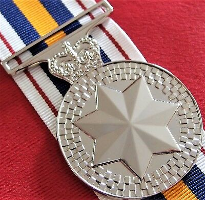 Australian National Police Service Medal Replica With Ribbon