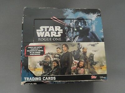 Star Wars Rogue One Trading Cards Display Box Topps