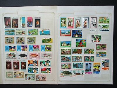 ESTATE SALE: Niue Collection on pages - FREE POST (2568)