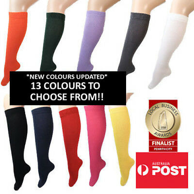 Women's Plain Coloured Knee High Socks