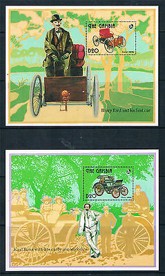 Gambia 1993 Henry Ford & Karl Benz 2x MS SG 1558 MNH