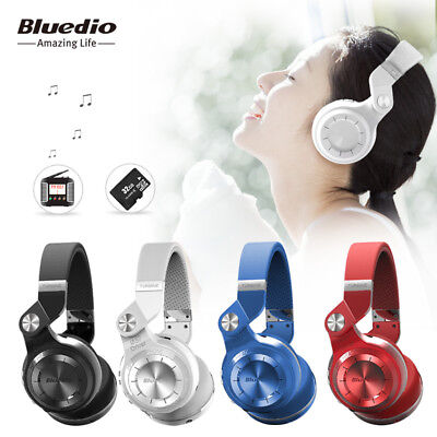 Universal Bluedio T2+ foldable headphones bluetooth FM wireless headset with Mic