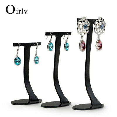 """3 Pieces of metal Angle Earring display stand with""""T"""" shape for showcasing prop"""