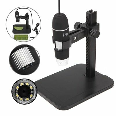 GVESS 1000X 8 LED 2MP USB stand Digital Microscope Magnifier (X0t)