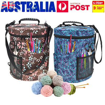 AU Woolen Yarn Storage Bags Knitting Crochet Ball Holder Tote Organizer Basket