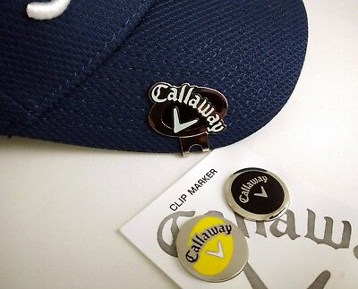 2 Callaway Golf Ball Marker & Cap Hat Clip BNew & FREE Postage