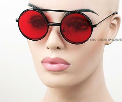 Steampunk Round Metal Flip Up Clear To Color Lens Sunglasses Vintage Style 600