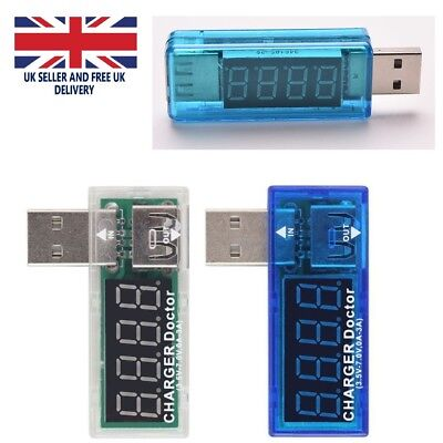 USB Volt Current Power Meter Tester Monitor Reader Phone Tablet Charger Doctor