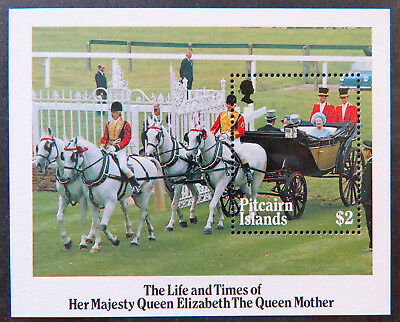 1985 Pitcairn Islands Stamps - Life & Times of the Queen Mother - Mini Sheet MNH
