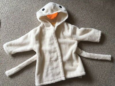 M&S Baby Duck Cotton Dressing Gown 6-9 Months