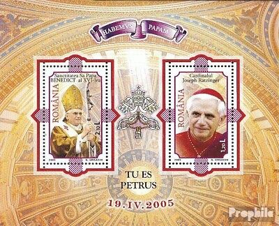 Romania block359 (complete.issue.) unmounted mint / never hinged 2005 Pope Bened