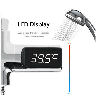 Digital LED Shower Temperature Display Water Monitor  Baby Care Self-Powered