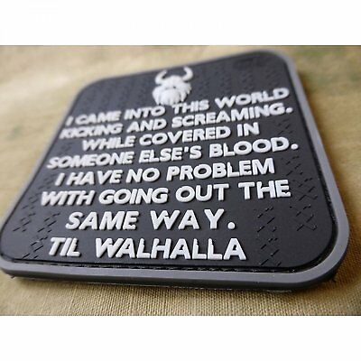 Jackets To Go Vikings Way Of Life Patch, Swat/Jtg 3D Rubber Patch Valhalla