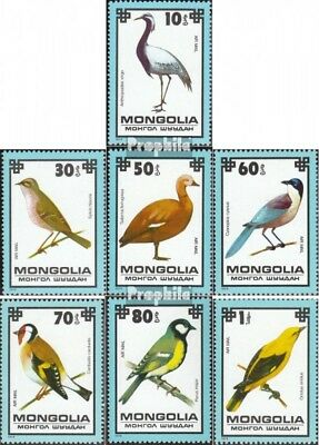 Mongolia 1256-1262 (complete.issue.) unmounted mint / never hinged 1979 Birds