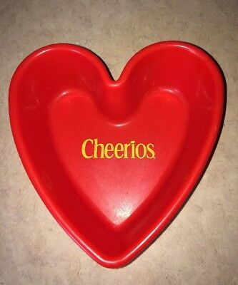Cheerios Red Heart Shaped Cereal Bowl General Mills