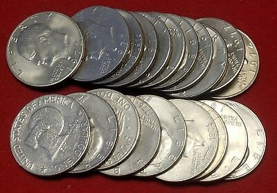 20 Eisenhower Ike Dollars 1971-1978 Mixed Dates/Grades No culls