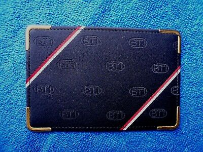 Credit Card / ID Holder featuring BTI Logo. In leather with gilt corners...