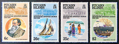1986 Pitcairn Islands Stamps - Centenary 7th Day Adventist Church - Set 4 MNH