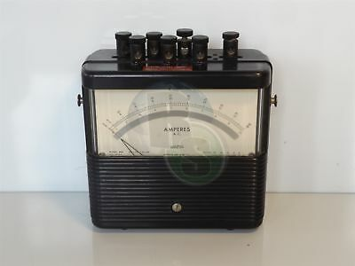 Weston Model 904 Amperes A.C. Ammeter 25-1000 Cycles