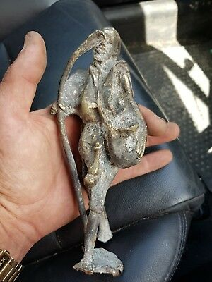 metal detecting finds a very unusual bronze sculpture