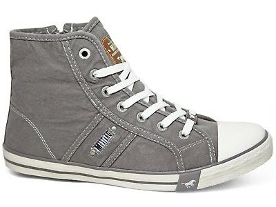 932 Top 502 Sneakers Silbergrau 1099 High Mustang Booty Damen Schuhe Canvas Zip kOwPuXZTi